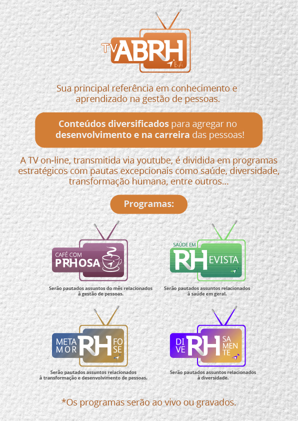 A TV ABRH-BA on-line chegou!